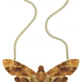 Tatty Devine - Hawk Moth Large Necklace - brown -
