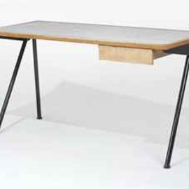"Jean Prouve - ""Compas Desk"" with drawer, ca 1955"