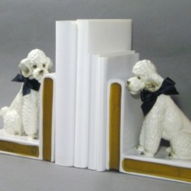 "LEFTON - 1950's LEFTON ""Standard Poodle"" Bookends"