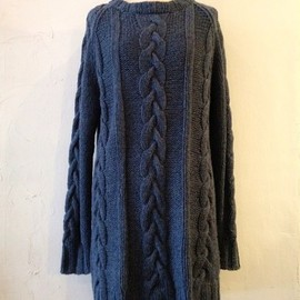 RHRB - LOWGAUGE KNIT Tunic BLUE×YELLOW