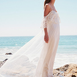 Free People - grace loves lace x free people willow maxi bohemian wedding dress