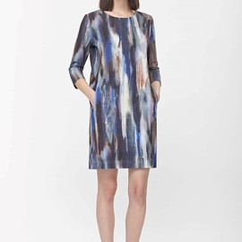 COS - ROUND-NECK PRINTED DRESS