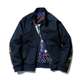 SOPHNET. - SWING TOP BLOUSON (SLEEVE CAMOUFLAGE)/navy