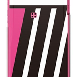 SECOND SKIN - PINK & BLACK ピンク (クリア) design by ROTM / for DIGNO DUAL WX04K/WILLCOM