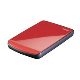 BUFFALO - Buffalo MiniStation Cobalt XXXGB USB 2.0 Ultra-Slim Portable Hard Drive with TurboPC, Red <br />