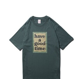 have a good time - MILITARY FRAME S/S TEE MILITARY GREEN