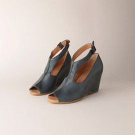 MM6 by Maison Martin Margiela - Ankle-Strap Wedge Sandal