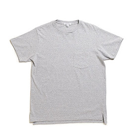 WORKADAY - Crossover Neck Pocket Tee-Grey