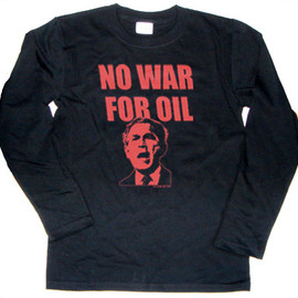 ice-mix - NO WAR FOR OIL 長袖Tシャツ