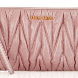 miu miu - miu miu matelasse leather clutch mauve Miu Miu Matelasse Leather Clutch