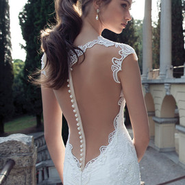 berta wedding dress with illusion back 2014