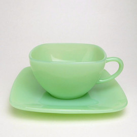 Fire King - Jadeite Charm Cup & Saucer