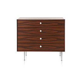 Herman Miller - NELSON™ THIN EDGE CHEST / 4 Drawers / Santos Palisander