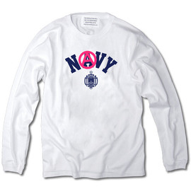 INDUSTRIAL SUITE - ANARCHY NAVY LONG SLEEVE TEE【WHITE】