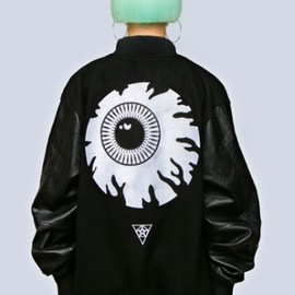 LONG CLOTHING, MISHKA - Keep Watch Varsity Jacket