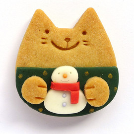 MeowMeowCookie - having snowman cat cookie