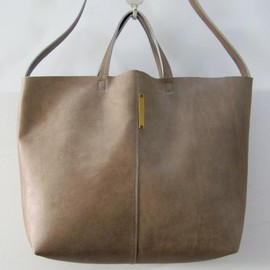 yucchino - OTONA eco-bag shoulder grege