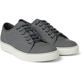 Lanvin - Cap-Toe Textured-Leather Sneakers
