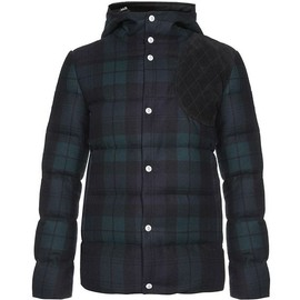 MONCLER GAMME BLEU - Black Watch Tartan Hooded Jacket