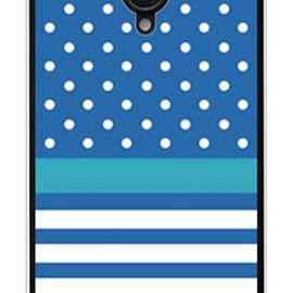 SECOND SKIN - ドット/ボーダー ブルー (クリア) / for AQUOS PHONE Xx 206SH/SoftBank