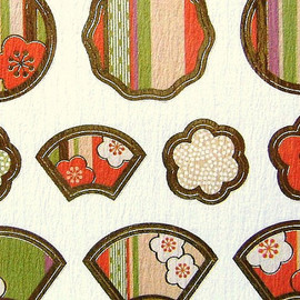 FORON - Japanese Chiyogami Stickers Plum Blossoms S25
