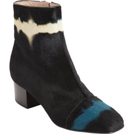 Dries Van Noten - Dyed Ponyhair ankle boot