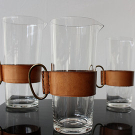 Carl Aubock - Leather and Glass Pitchers
