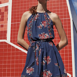 Joie - Joie Valletta Floral Print Silk Dress