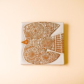 BIRDS' WORDS - CERAMIC PLATE