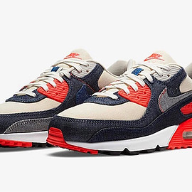 NIKE, Denham - Air Max 90 DNHM - Denim/Medium Denim/Infrared/Ecru