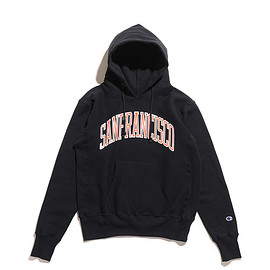 Champion - Reverse Weave Pull Over Sweat Parka Printed-Black