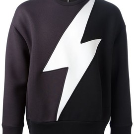 Neil Barrett - lighting bolt sweatshirt