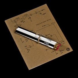 moog - Schematic Notebook & Synthesis Pencil Set
