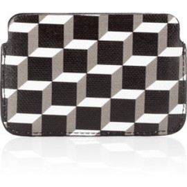 PIERRE HARDY - Cube print coated canvas cardholder