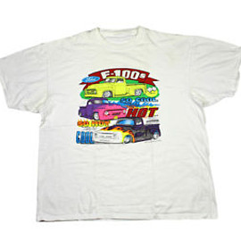 VINTAGE - Vintage Ford F-100 Neon T-Shirt Mens Clothing Size XL