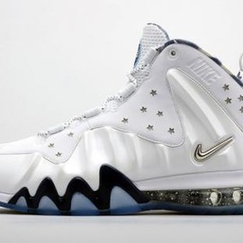 Nike - NIKE BARKLEY POSITE MAX WHITE/METALLIC SILVER-MIDNIGHT NAVY