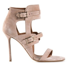 VALENTINO - Nude suede 'Hitch On' sandals