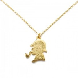 Lilou - FACE NECKLACE sherlock gold