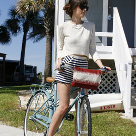 MercyandRuthHandbags - Bicycle Handlebar Bag in Crimson Tide