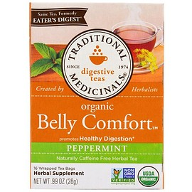 Traditional Medicinals - Digestive Teas, Organic Belly Comfort, Peppermint