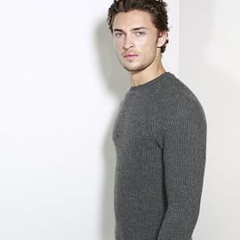 Johnstons of Elgin - Cashmere Ribbed Sweater In Grey