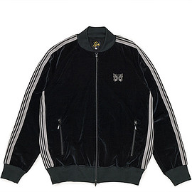 NEEDLES - Rib Collar Track Jacket-C/R Velour-Black