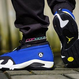 NIKE - NIKE AIR JORDAN 14 LOW VARSITY ROYAL/BLACK-VARSITY MAIZE-WHITE