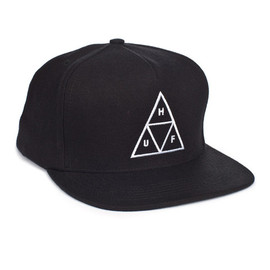 HUF - HUF TRIPLE TRIANGLE SNAPBACK // BLACK
