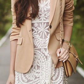 sheinside - Lace dress & blazer