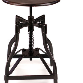 McClain - Industrial Style Swivel Stool industrial bar stools and counter stools
