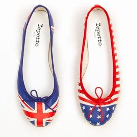 Repetto×OPENING CEREMONY - flag ballerina flats