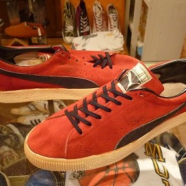 """PUMA - 「<used>70's PUMA Clyde red/black""""made in WEST GERMANY"""" size:UK7(25.5-26cm) 30000yen」完売"""