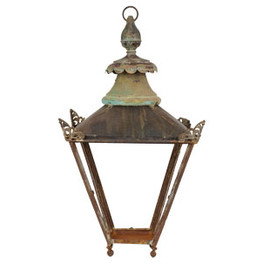 JAYSON HOME - ANTIQUE IRON LANTERN