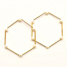 Rough'N'tumble - Hexagon bracelet pearl